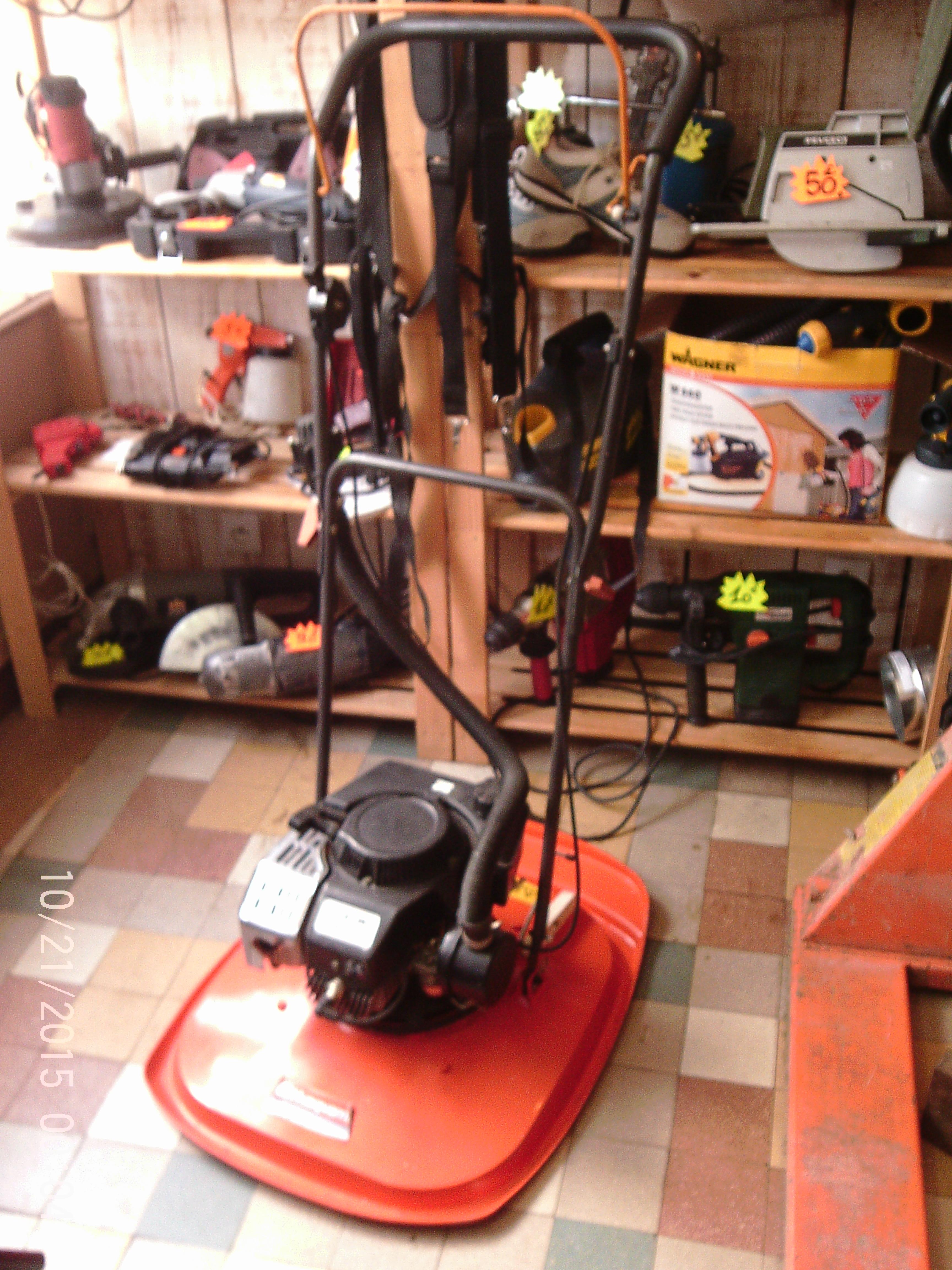 Tondeuse thermique sur coussin d air r nov 39 outils - Tondeuse coussin d air ...
